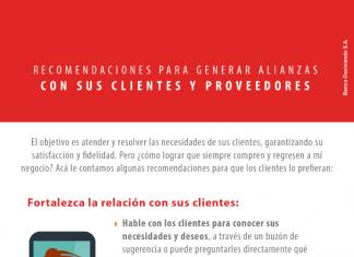 Recomendaciones para generar alianzas con sus clientes y proveedores