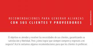 Recomendaciones para generar alianzas ganadoras con sus clientes y proveedores